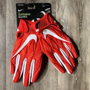 Nike Superbad Football Gloves University Red Large